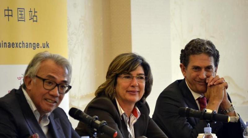 Sir David Tang with Christiane Amanpour and James Rubin