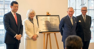 TRH The Prince of Wales and The Duchess of Cornwall with the Chinese Ambassador and Sir David Tang