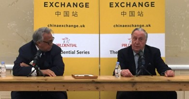 Fredrick Forsyth at China Exchange