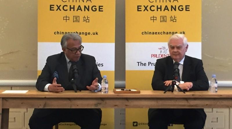 Lord Lamont and Sir David Tang at China Exchange
