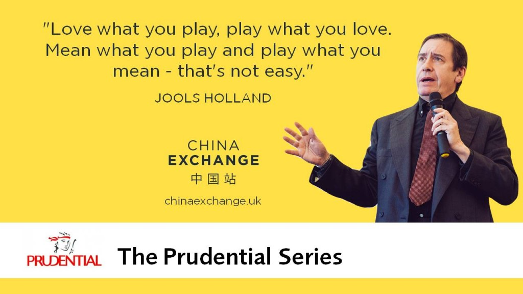 "Jools Holland Quote: ""Love what you play, play what you love. Mean what you play and play what you mean - that's not easy"""