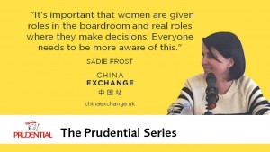 """Sadie Frost quote - """"It's important that women are given roles in the boardroom and real roles where they make decisions. Everyone needs to be more aware of this."""""""