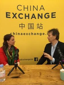 Michael Wood with China Exchange CEO Freya Aitken-Turff