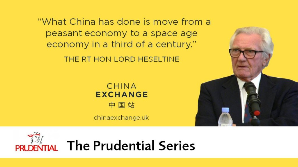 Lord Heseltine quote: What China has done is move from a peasant economy to a space age economy in a third of a century.