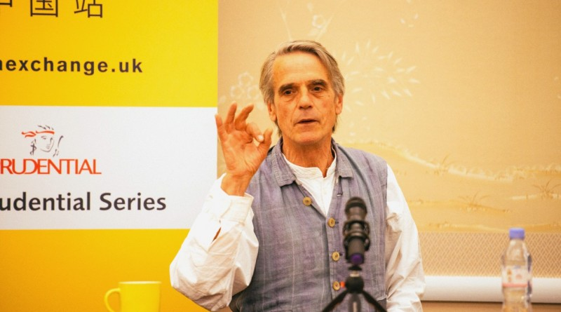 Jeremy Irons at China Exchange Photo by Neil Raja