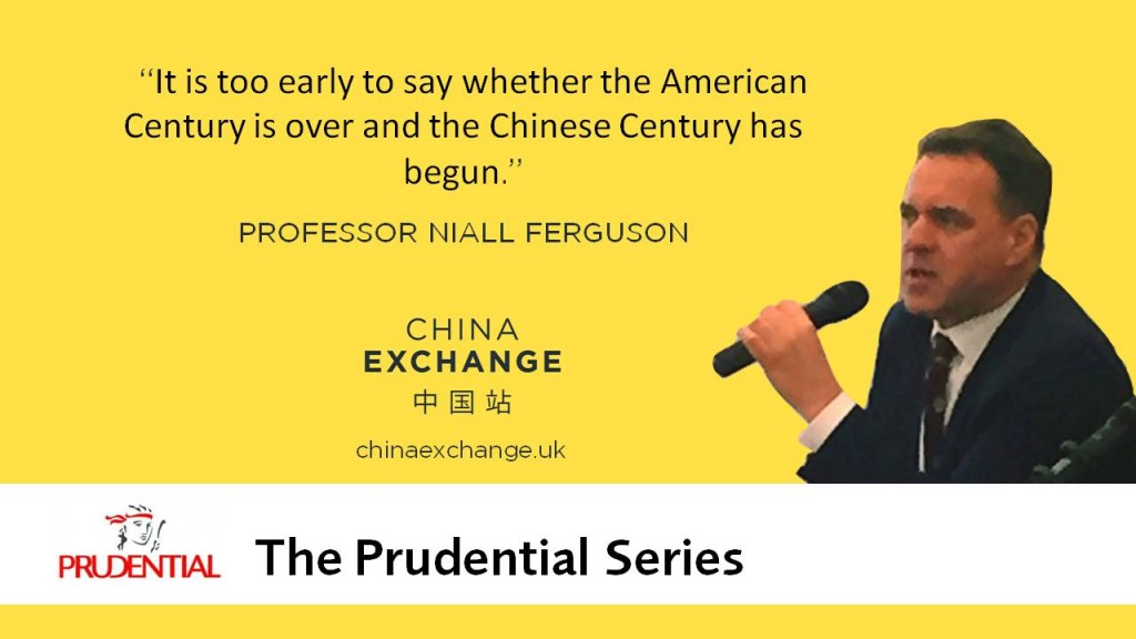 "Niall Ferguson quote ""It is too early to say whether the American Century is over and the Chinese Century has begun."""