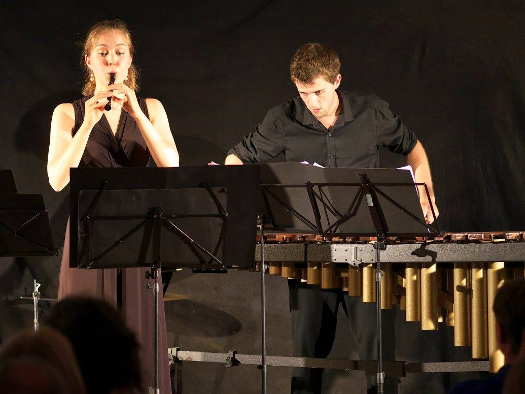 Tabea and Oliver perform together