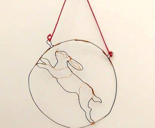 Wire Rabbit in the Moon