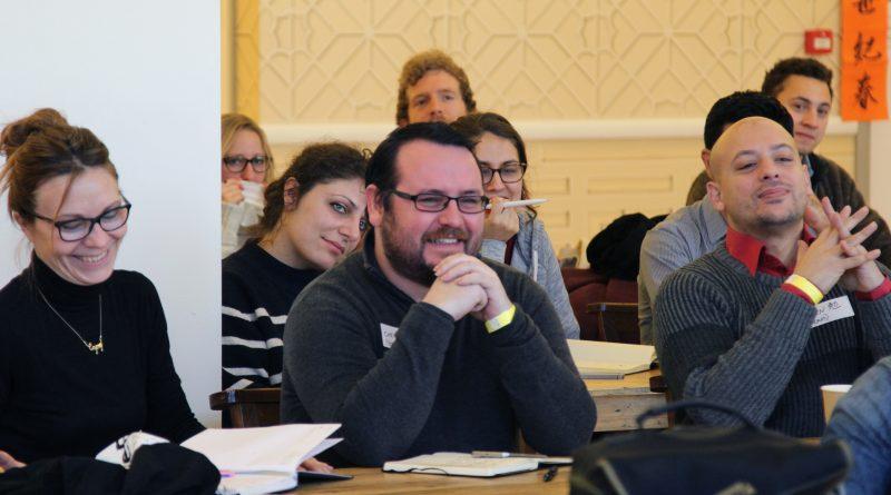 Diadcny entrants enjoying the workshop
