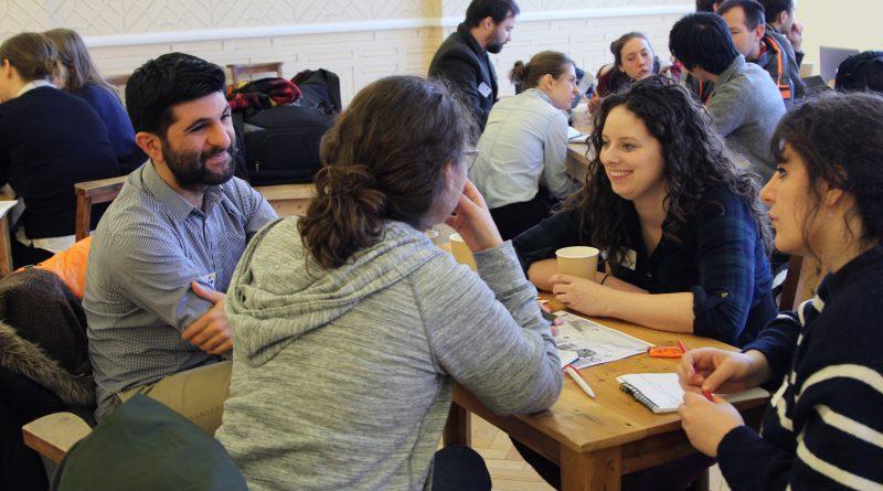Diadcny teams discuss their ideas
