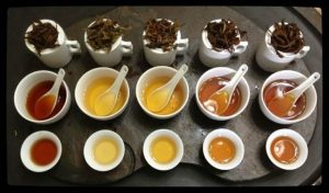 Grading tea leaves