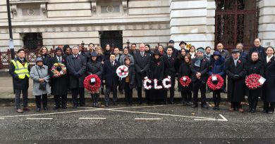 CLC contingent at the Cenotaph